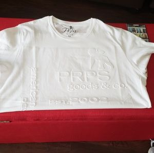 Mens White Prps t-shirt, new with tags. Size XL